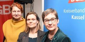 Annelie Buntenbach, Jenny Huschke, Ulrike Gote