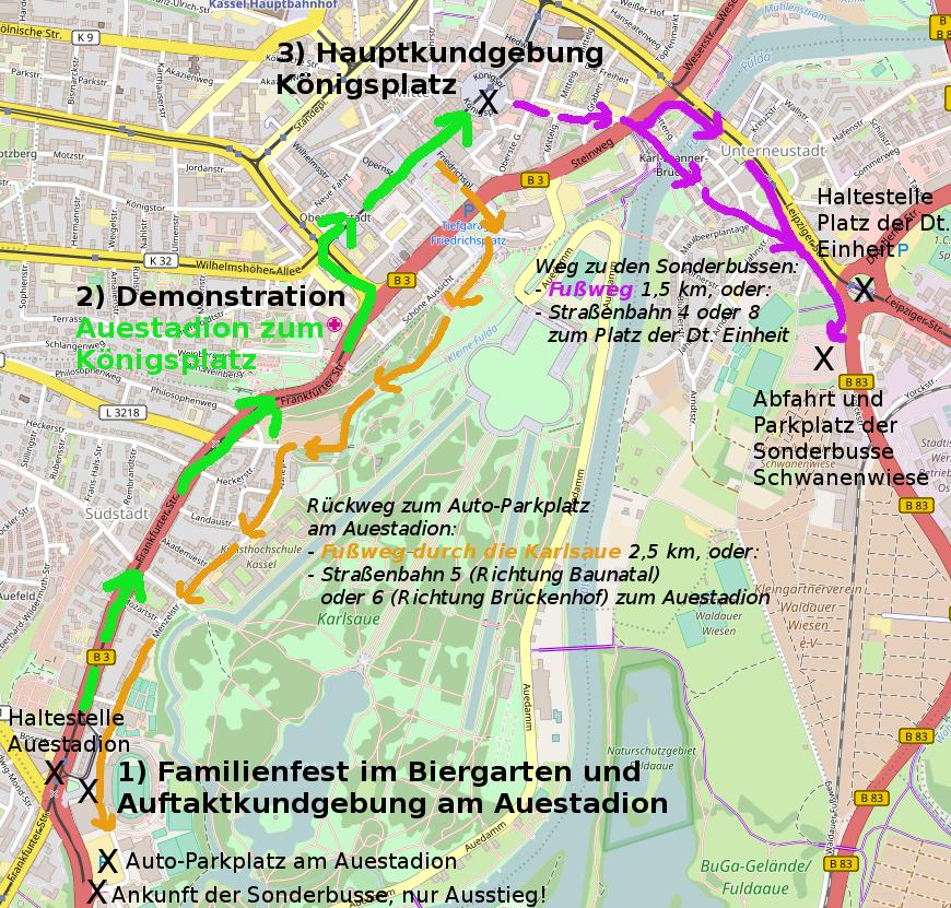 Stadtplan Rentendemo Kassel