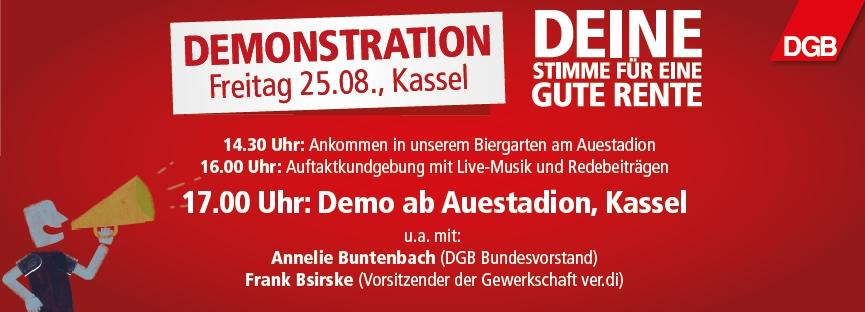 Demonstration 25. August Kassel